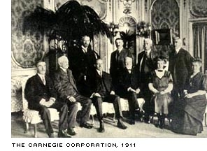 Group photo circa 1911 of the Carnegie Corporation members