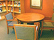 Interior seating at the Bracebridge Public Library