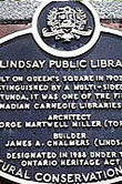 Heritage Plaque for Lindsay Public Library — City of Kawartha Lakes