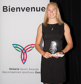 Female Athlete of the Year Katie Vincent