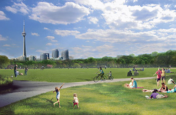Concept Image of the Open Green Space