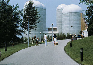 Silos with Connecting Walkways on West Island
