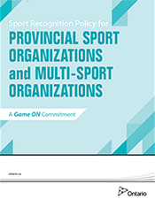 Sport Recognition Policy