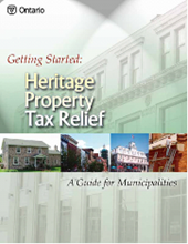 Cover of the Heritage Property Tax Relief guide